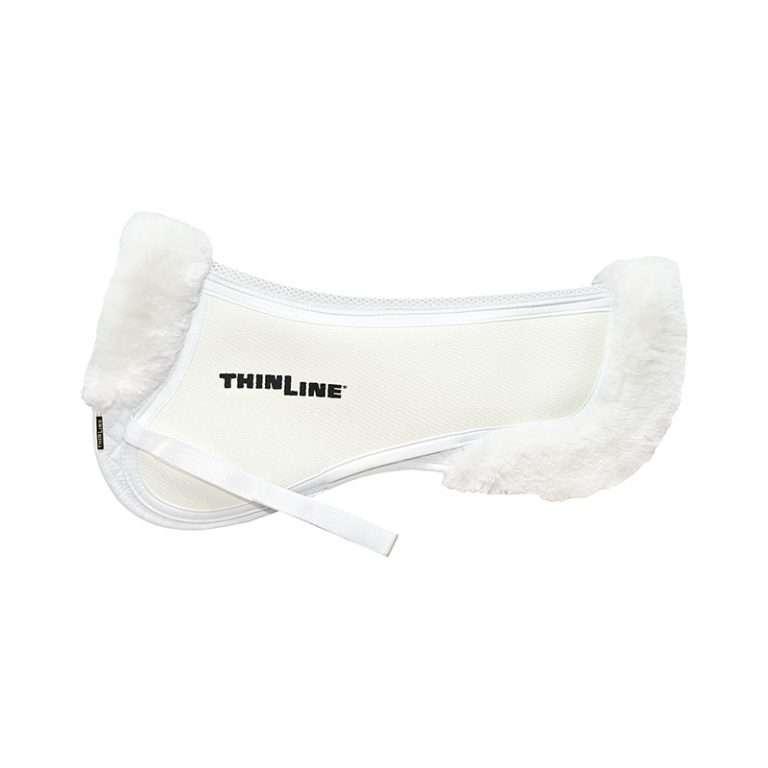 Thinline Trifecta Half Pad with Sheepskin Rolls White