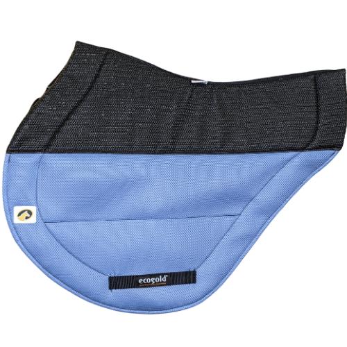 ecogold secure xc saddle pad slate blue