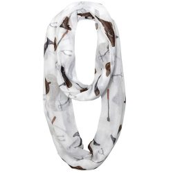 Lila Infinity English Tack Voile Scarf Coiled