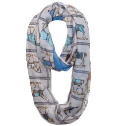 Lila Infinity Equestrian Blankets Scarf Coiled