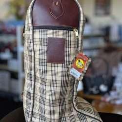 Baker Plaid Tall Riding Boot Bag