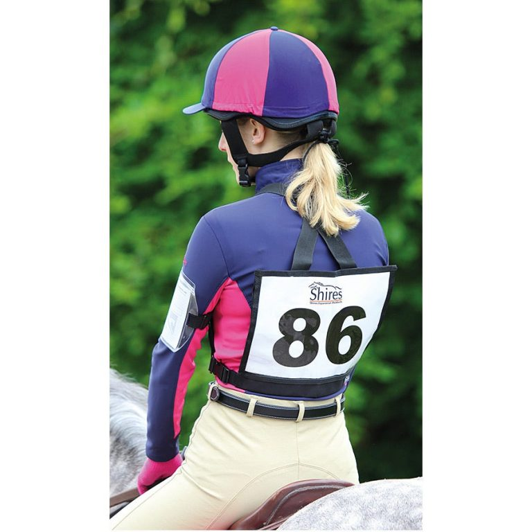 Competition Eventing Number Holder Pinny Bib On Model