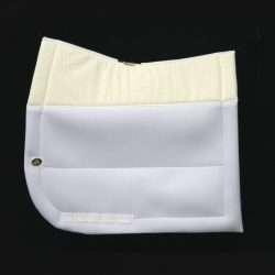 ECOGOLD® Secure™ Dressage Saddle Pad Wht