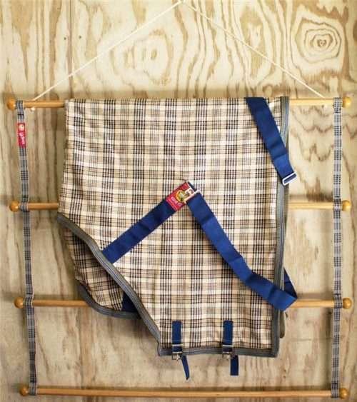 baker portable blanket pad rack