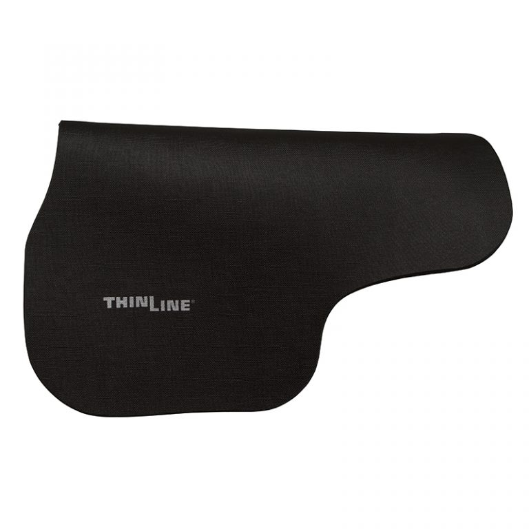 thinline contoured half pad black