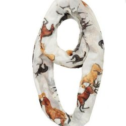 Lila Infinity All Over Horses Voile Scarf Looped