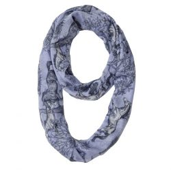 Lila Infinity Blue Toile Scarf Looped