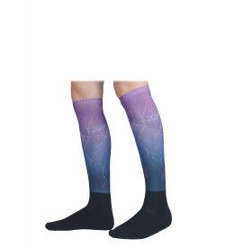 aubrion hyde park tall boot socks purple lightning