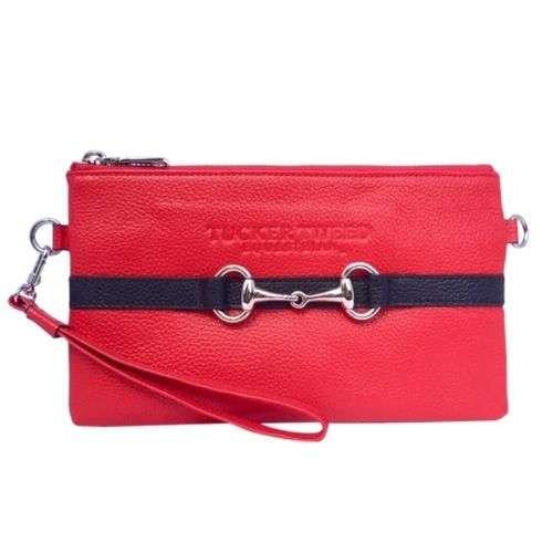 tucker tweed wellington wristlet red