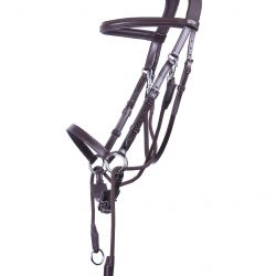 qhp ceto bitless leather bridle