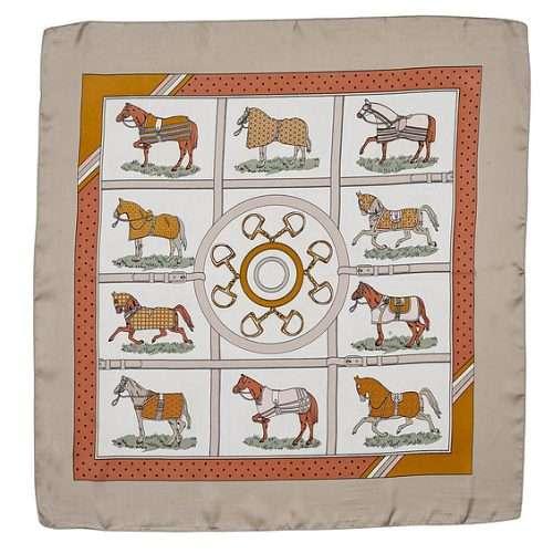 satin square scarf horse blankets burnt orange